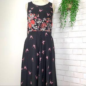 Sundance maxi dress floral and butterflies size 8